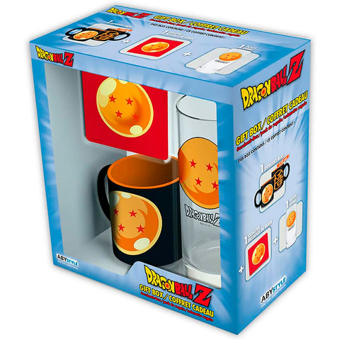 Set de Regalo Dragon Ball Z: Taza + Vaso + Portavaso