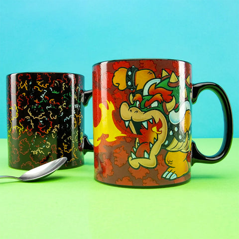 Taza Mágica 18oz Reactiva al Calor Bowser