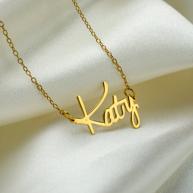 Kids Dainty Script Necklace