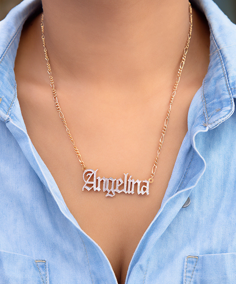 Double Plated Angelina Style Name Necklace