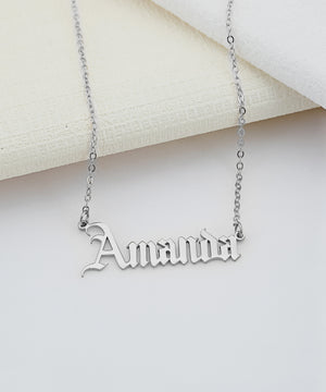 The Gothic AKA Rock Star Name Necklace