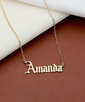 The Gothic Name Necklace