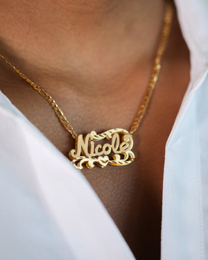 Double Plated Name Necklace