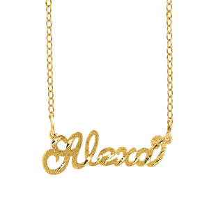 The Alexa Flowy Name Necklace