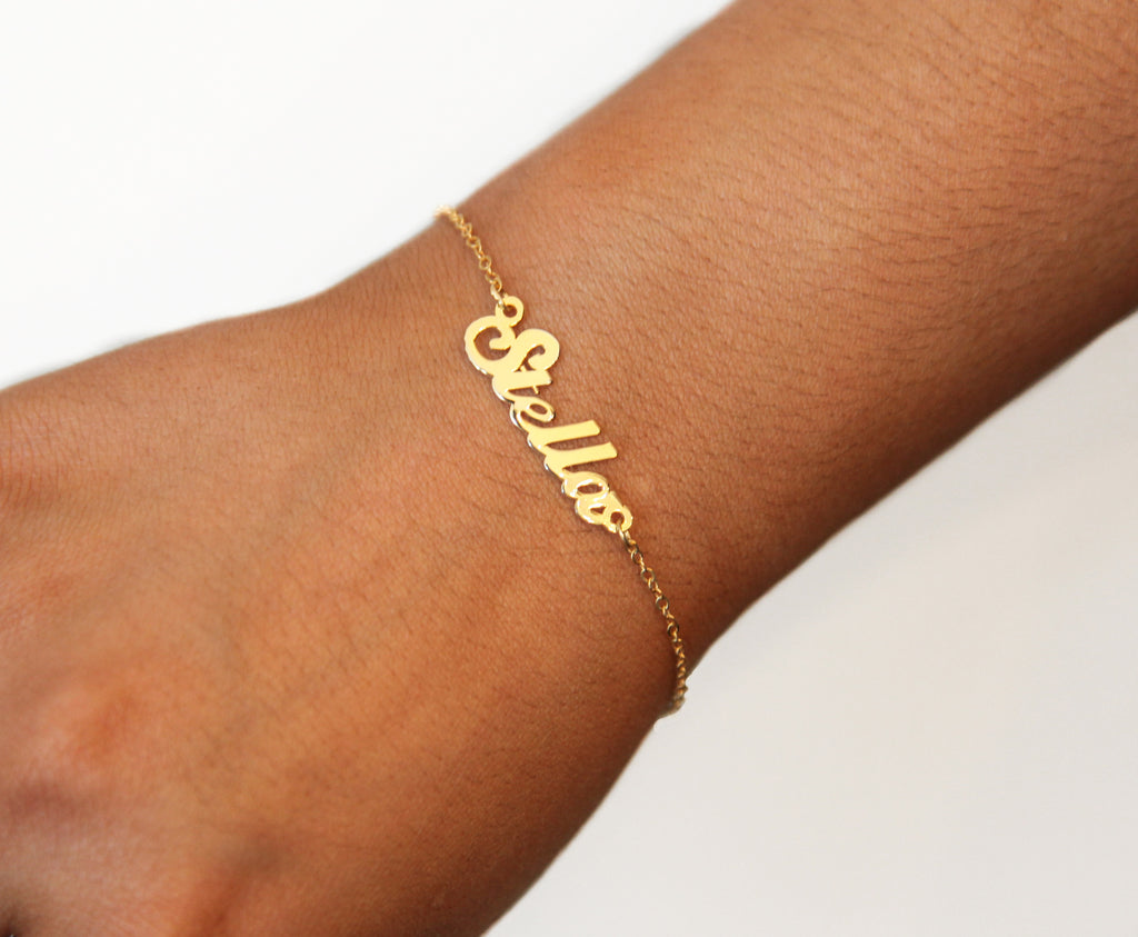 The Stella Script Name Bracelet