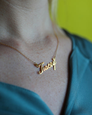 Cursive Tracey Name Necklace