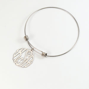 Swirly Monogram Bangle