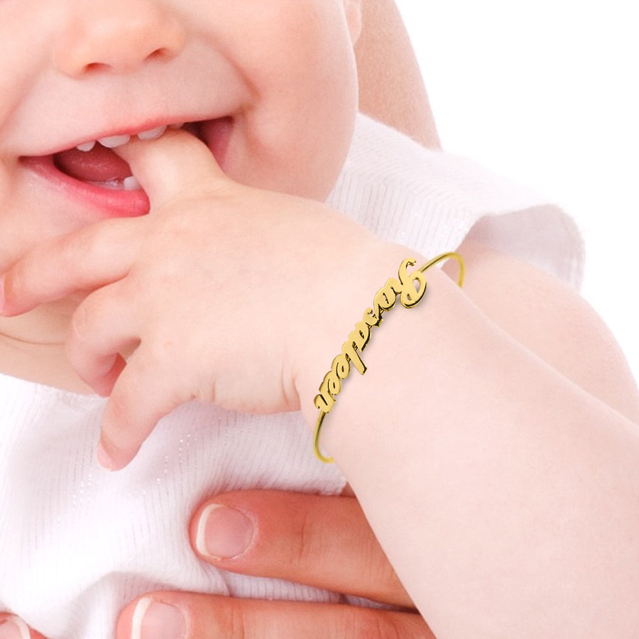 Personalized Name Baby Bangle