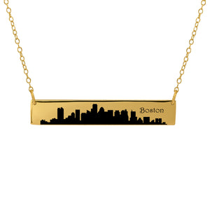 City Skyline Bar Necklace