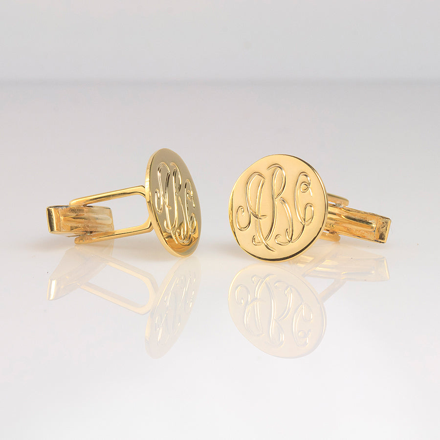 Engraved Monogram Cufflinks