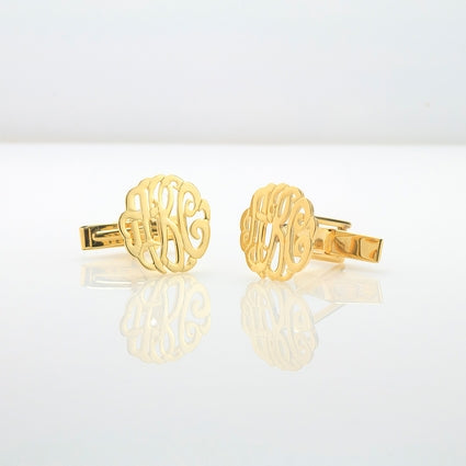 Swirly  Monogram Cufflinks