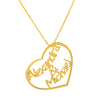 Couples Names Necklace with Heart