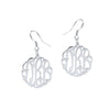 Handmade Script Monogram Earrings
