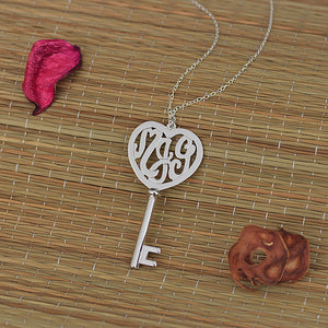 Heart Shape Monogram Key