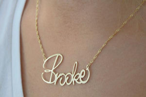 Large Script  Name Necklace