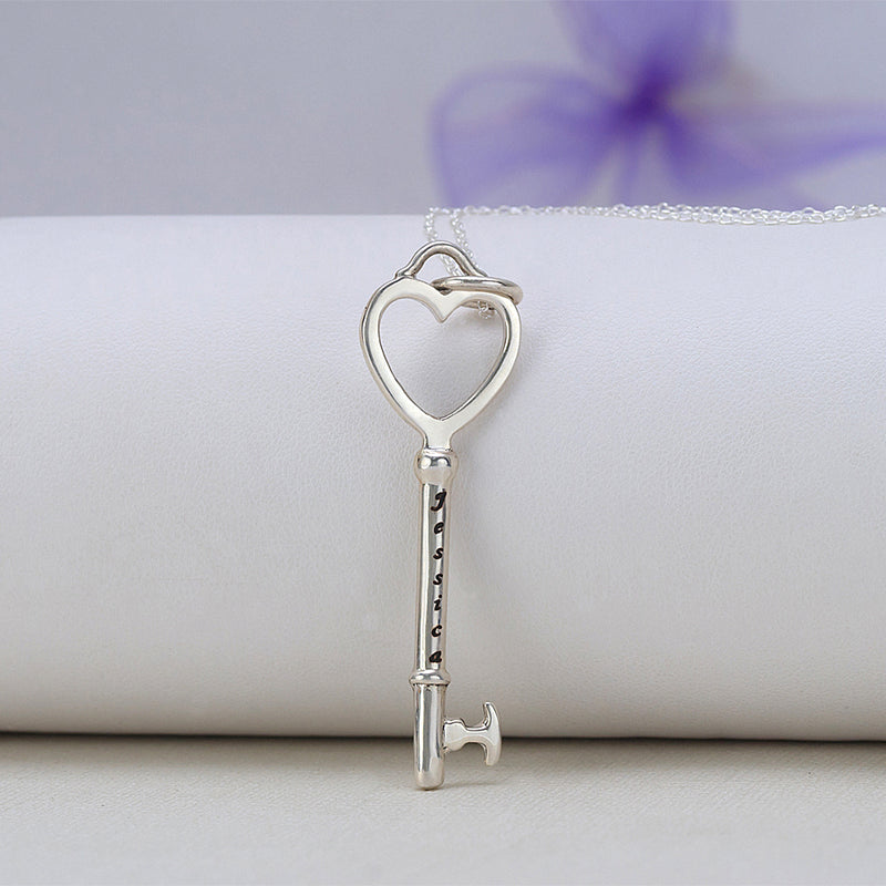 Key Engravable Name Pendant