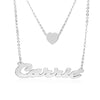 Carrie Necklace with Layered Heart Charm