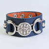 Leather Monogram Bracelet