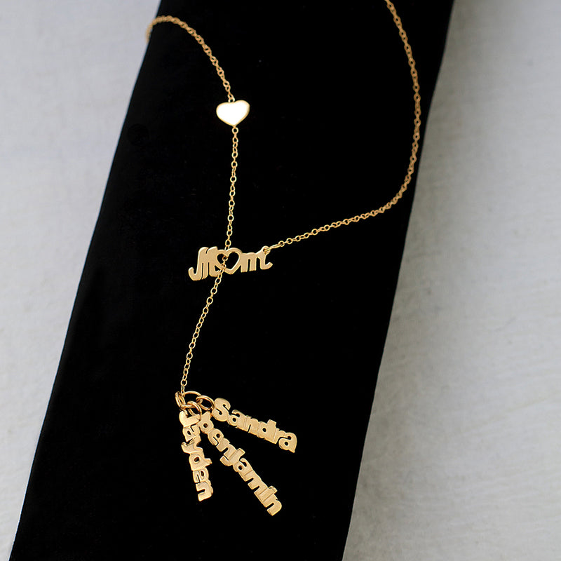 Vertical Hanging Name Necklace
