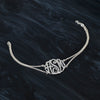 Swirly Monogram Bracelet with Rollo Chain