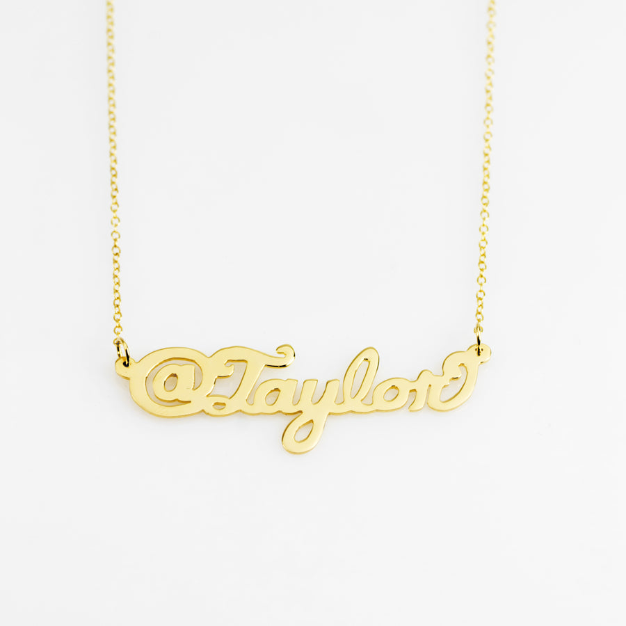 Tag Name Necklace