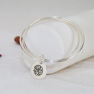 Slip On Engraved Monogram Bracelet