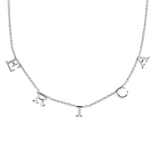 The Erica Spaced Name Necklace