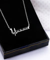 Special Date Heart Beat Necklace