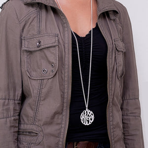 Large Script Monogram Necklace