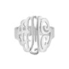 Swirly Monogram Ring