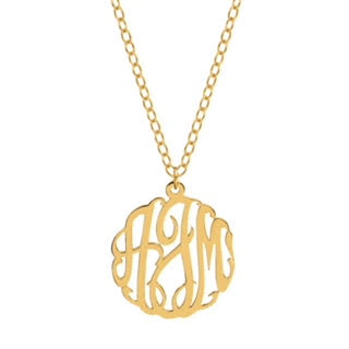 Swirly Monogram Necklace