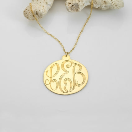 Engraved Monogram Pendant