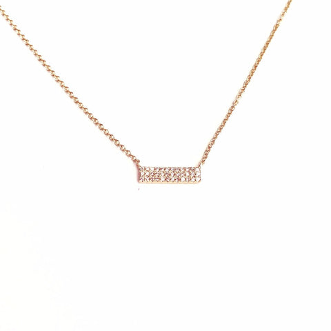 SHORT 3-ROW DIAMOND BAR NECKLACE