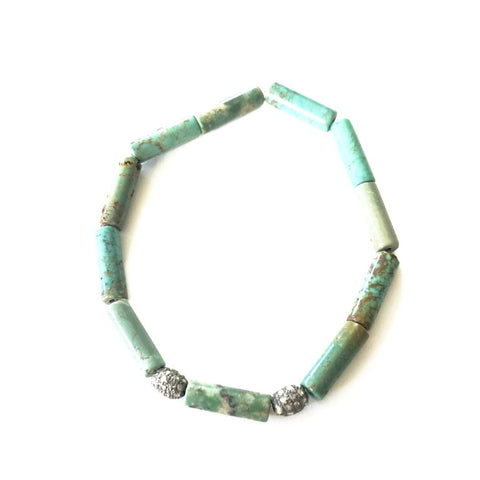 ALL TURQUOISE AND DIAMOND BEAD BRACELET - A.FIER LIFESTYLE