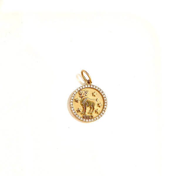 Zodiac Diamond Charm