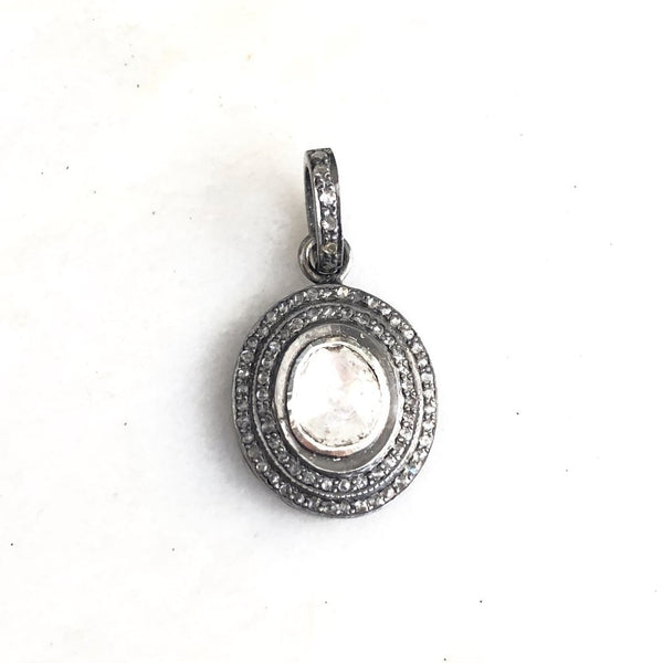 ROSE CUT PENDANT - LARGE OVAL - A.FIER LIFESTYLE