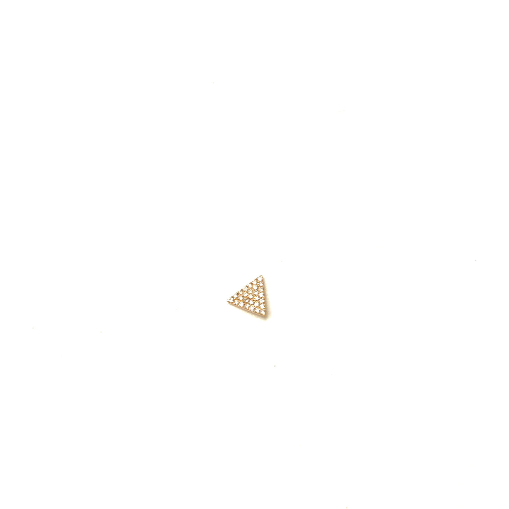 Diamond Triangle Stud Earring - SINGLE