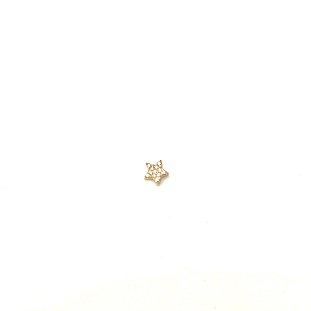 Diamond Star Earring - SINGLE