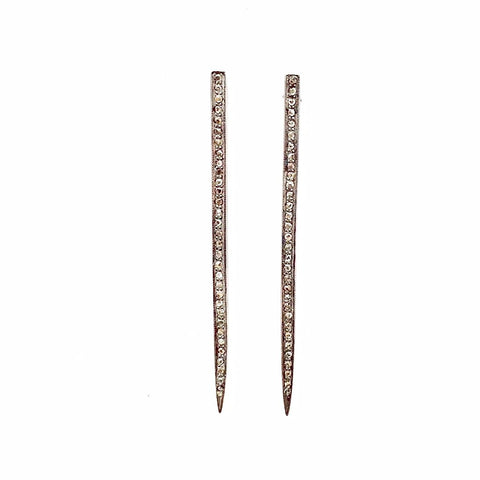 PAVE DIAMOND SPIKE EARRINGS - A.FIER LIFESTYLE