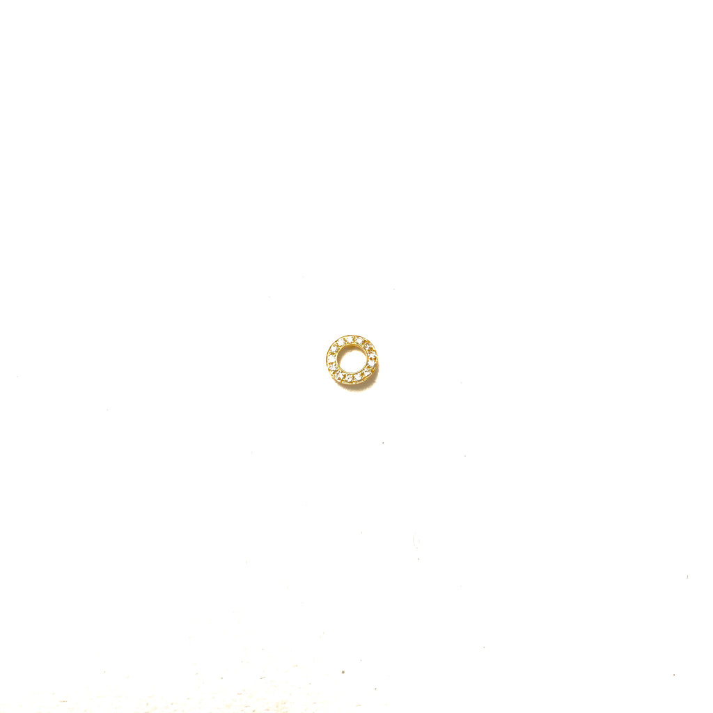 'O' Gold and Diamond Earring - SINGLE