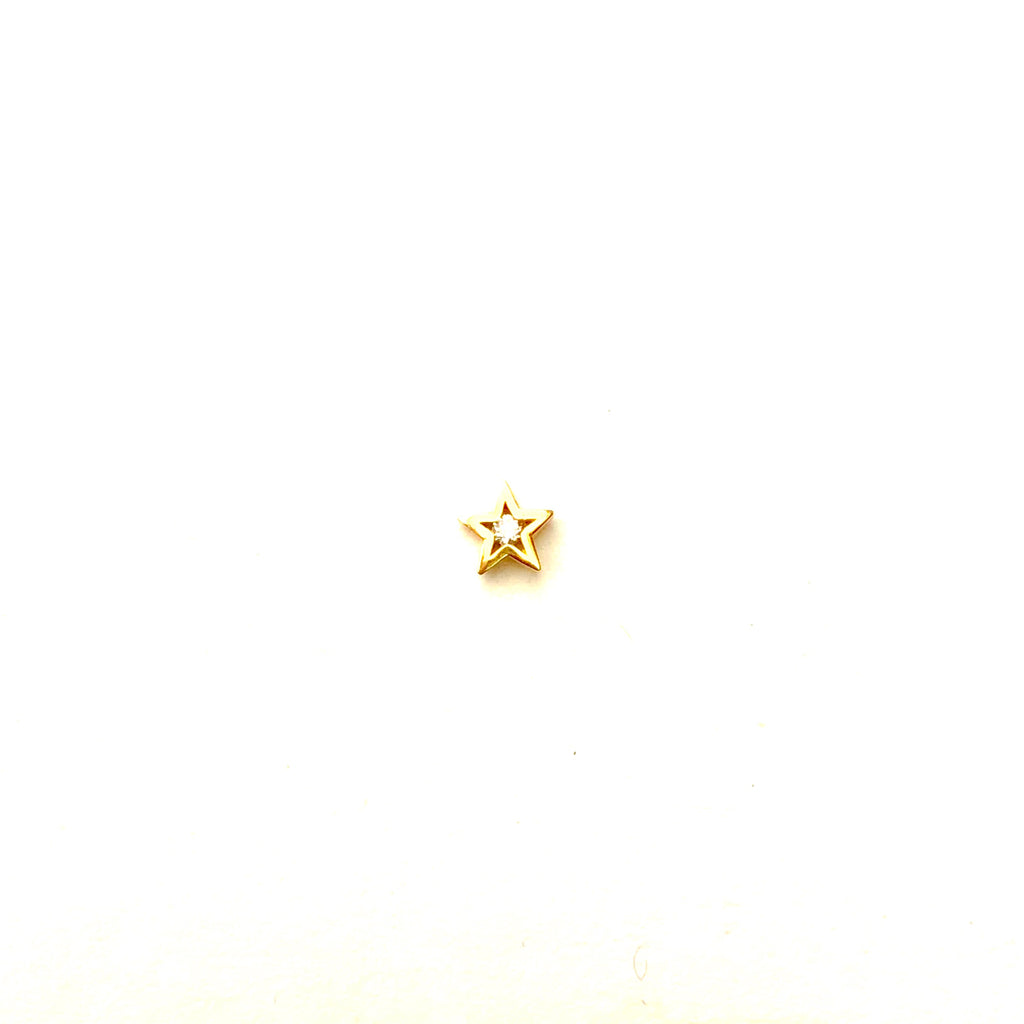 Mini Star Diamond Stud - SINGLE