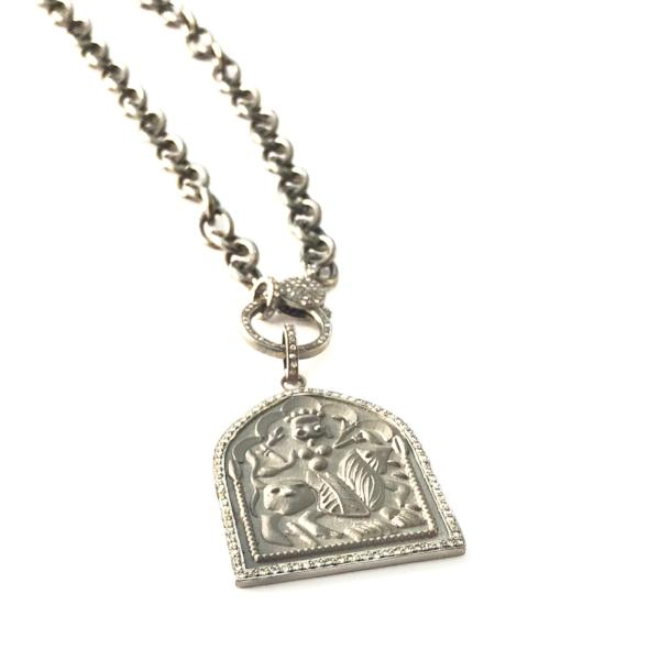 PAVE DIAMOND HOROSCOPE PENDANT NECKLACE - A.FIER LIFESTYLE