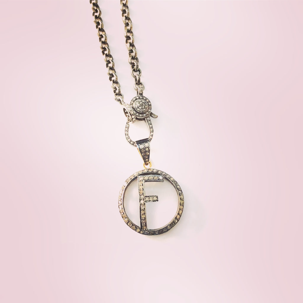 PAVE DIAMOND INITIAL NECKLACE - A.FIER LIFESTYLE