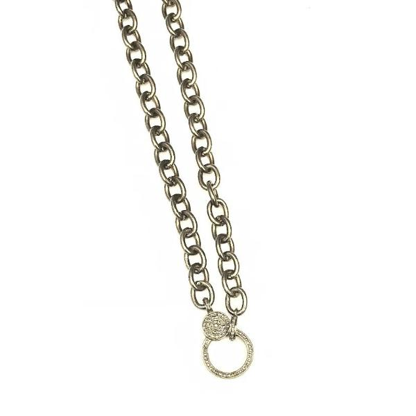 LARGE LINK SILVER CHAIN WITH PAVE LOBSTER CLASP – A.FIER LIFESTYLE 9b09216c9619