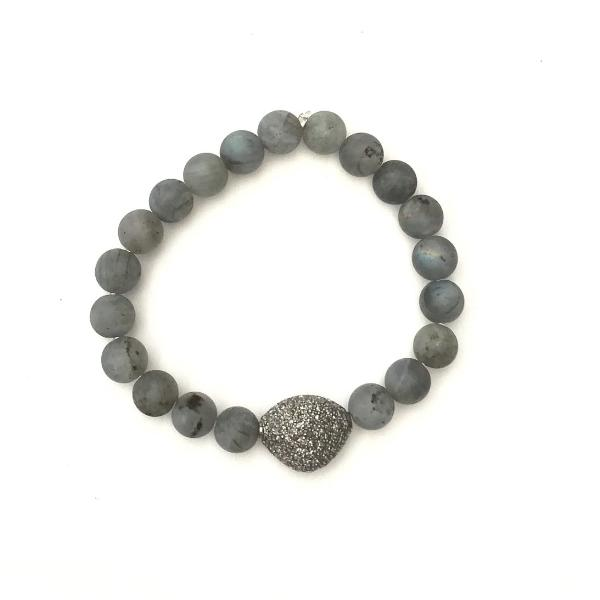 LABRADORITE WITH PAVE DIAMOND WITH PAVE PEBBLE - A.FIER LIFESTYLE