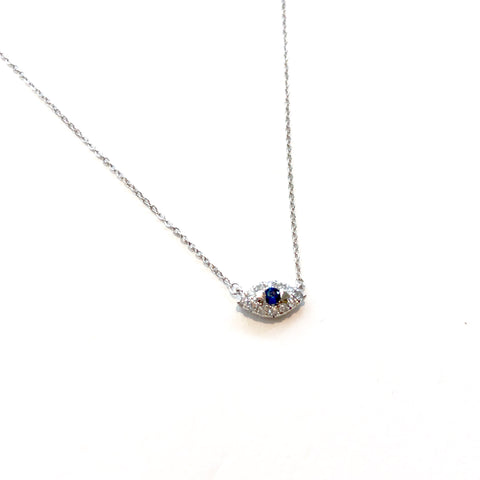 Dainty Evil Eye Gold & Diamond Necklaces