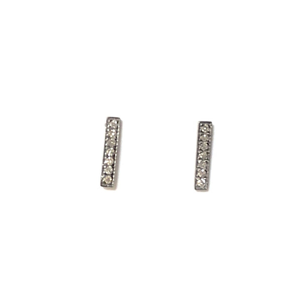 SMALL PAVE DIAMOND BAR EARRINGS - A.FIER LIFESTYLE