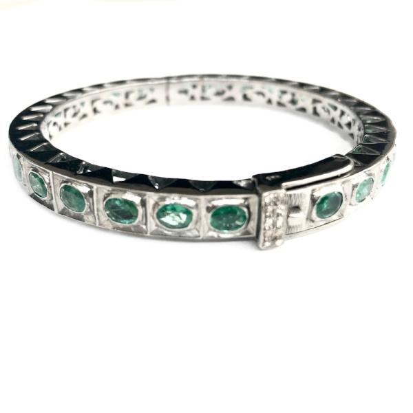 ALL EMERALD ROSE CUT BANGLE - A.FIER LIFESTYLE
