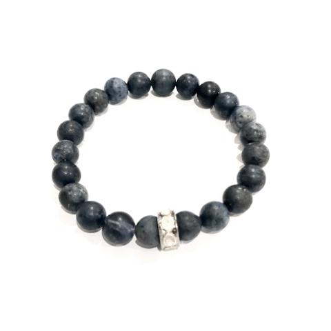 NAVY DUMORTIERITE WITH ROSE CUT SPACER- LARGE - A.FIER LIFESTYLE