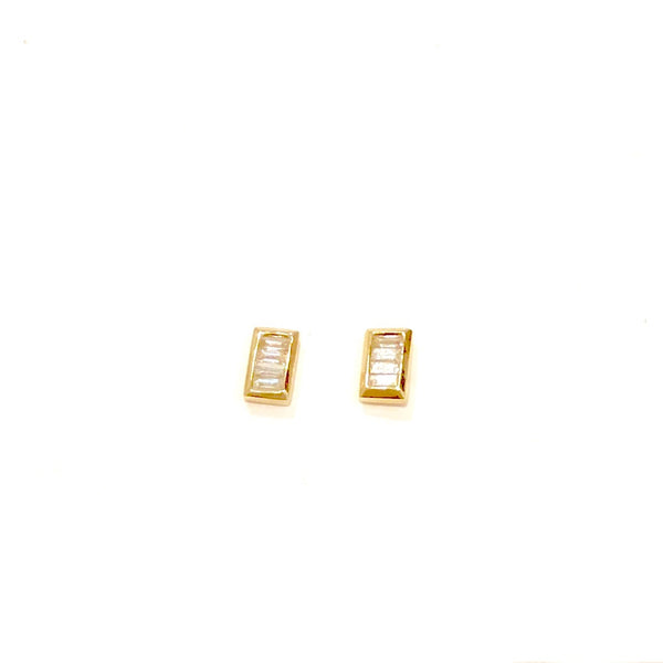 Emerald Cut Multi-Diamond Studs